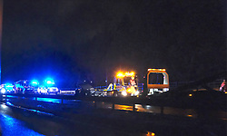 The M8 eastbound was closed at J4 Whitburn due to a multiple vehicle accident. Emergency services and recovery vehicles were in attendance<br /> <br /> Pictured: General view<br /> <br /> Alex Todd   Edinburgh Elite media