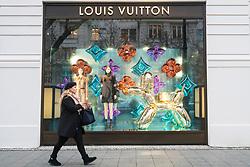 Louis Vuitton boutique on famous shopping street Kurfurstendamm , Kudamm, in Berlin, Germany.