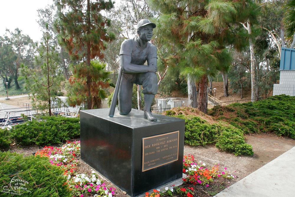 Jackie Robinson Statue, Jackie Robinson Stadium, UCLA, Los Angeles, California (LA)