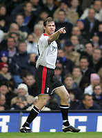 Photo: Lee Earle.<br /> Chelsea v Fulham. The Barclays Premiership. 26/12/2005. Fulham's Brian McBride celebrates scoring their first.