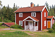 The small house where the manservant or hand Alfred lived. The original location where Astrid Lindgren's story of Emil in Lonneberga (Emil get's into mischief') was filmed. Katthult Smaland region. Sweden, Europe.