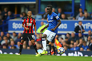 Idrissa Gueye of Everton in action. Premier league match, Everton vs Bournemouth at Goodison Park in Liverpool, Merseyside on Saturday 23rd September 2017.<br /> pic by Chris Stading, Andrew Orchard sports photography.