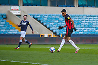 Football - 2020 / 2021 Sky Bet (EFL) Championship - Millwall vs AFC Bournemouth  - The Den<br /> <br /> Dominic Solanke (AFC Bournemouth) gets his goal as he slides the ball into the Millwall goal<br /> <br /> COLORSPORT/DANIEL BEARHAM