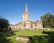 Graveyard of Church of Saint Bartholomew, Corsham, Wiltshire, England, UK