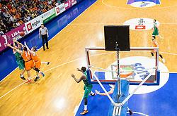 Arena during 2nd Leg basketball match between KK Helios Suns and KK Zlatorog Lasko in Final of Nova KBM Champions League  2015/16, on May 31, 2016 in Hala Komunalnega centra, Domzale, Slovenia Photo by Vid Ponikvar / Sportida