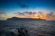 Portugal, Madeira, Ilhas Selvagens, 2016/07/10:Panorâmica da Selvagem Grande vista do navio patrulha da Marinha Portuguesa,  N.R.P. Cacine.<br /> Foto:Gregório Cunha