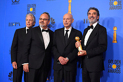January 6, 2019 - Los Angeles, California, U.S. - Michael Douglas, Al Higgins, Alan Arkin and Chuck Lorre in the Press Room during the 76th Annual Golden Globe Awards at The Beverly Hilton Hotel. (Credit Image: © Kevin Sullivan via ZUMA Wire)