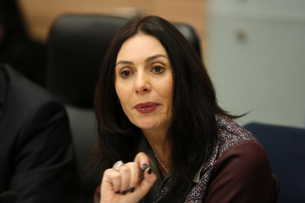 Israeli Minister of Culture and Sports Miri Regev, at the Knesset, Israel's parliament in Jerusalem, on January 27, 2016.