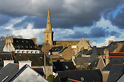 The roofs of La Roche Derrien, Brittany, Bretagne, France