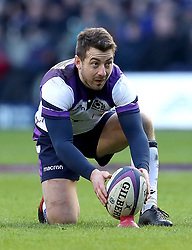 Scotland's Greg Laidlaw places the ball during the NatWest 6 Nations match at BT Murrayfield, Edinburgh.