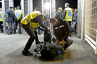 Uno steward controlla le borse ai cancelli d'ingresso,<br /> Torino 21-11-2015, Juventus Stadium, Football Calcio 2015/2016 Serie A, Juventus - Milan, Foto Filippo Alfero/Insidefoto
