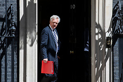 © Licensed to London News Pictures. 15/05/2018. London, UK. Secretary of State for Exiting the European Union David Davis leaves 10 Downing Street after the Cabinet meeting. Photo credit: Rob Pinney/LNP