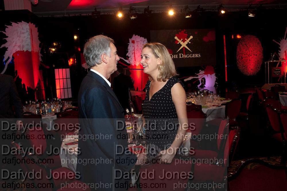 DENIS LAWSON; ELEANOR GOLDWYN, Specsavers Crime Thriller Awards.  Award ceremony celebrating the best in crime fiction and television. <br /> Grosvenor House Hotel, Park Lane, London. 21 October 2009