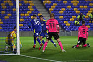 GOAL 2-0, AFC Wimbledon striker Joe Pigott (39) during the EFL Sky Bet League 1 match between AFC Wimbledon and Peterborough United at Plough Lane, London, United Kingdom on 2 December 2020.