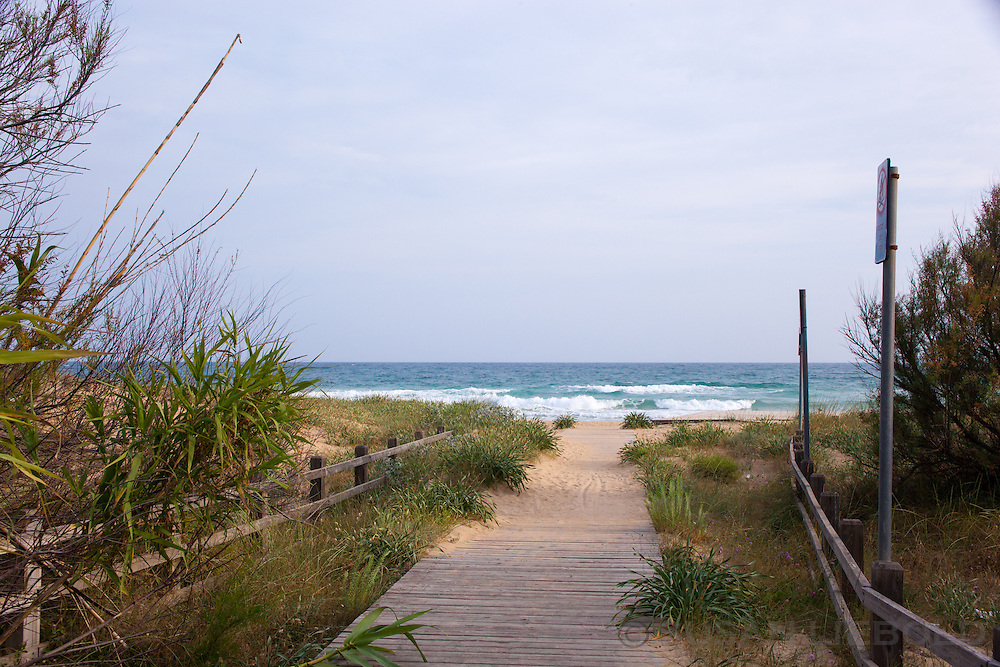 A sandy pathway to the Ionian Sea in Southern Italy.