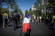 A girl with a French flag