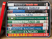 A selection of DVDs about motor racing and Formula One drivers and driving published by Duke