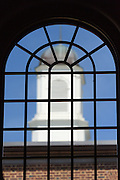 Looking out a window at the Tower Hill School in Wilmington, De. Photograph by Jim Graham
