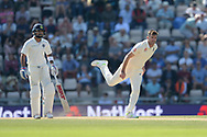 James Anderson of England bowling during the fourth day of the 4th SpecSavers International Test Match 2018 match between England and India at the Ageas Bowl, Southampton, United Kingdom on 2 September 2018.