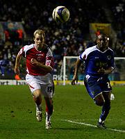Photo: Steve Bond/Sportsbeat Images.<br />Leicester City v Charlton Athletic. Coca Cola Championship. 29/12/2007. Luke Varney (L) and Darren Kenton (R) chase down the ball