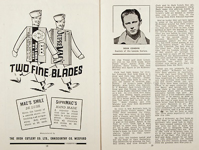 All Ireland Senior Hurling Championship Final,.Brochures,.07.09.1947, 09.07.1947, 7th September 1947,.Kilkenny 0-14, Cork 2-7,.Minor Galway v Tipperary, .Senior Kilkenny v Cork, .Croke Park,..Advertisements, The Irish Cutlery Co. Ltd. Two Fine Blades, .