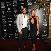 Josh Denzel, Kaz Crossley attend the Official launch party for the annual Gumball 3000 Rally took place at Proud Embankment on August 4 2018, London, UK.