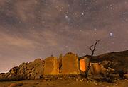 Joshua Tree Ryan Ranch Ruins at Night