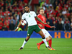 October 9, 2017 - Cardiff City, Walles, United Kingdom - Cyrus Christie of Republic of Ireland .during FIFA World Cup group qualifier match between Wales and Republic of Ireland at the Cardiff City Stadium, Cardiff, Wales on 9 October 2017. (Credit Image: © Kieran Galvin/NurPhoto via ZUMA Press)