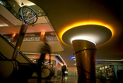 Stock photo of the Houston Texas downtown tunnel system lighting fixture