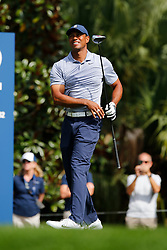 March 15, 2019 - Ponte Vedra Beach, FL, U.S. - PONTE VEDRA BEACH, FL - MARCH 15: Tiger Woods of the United States plays a shot on the second hole during the second round of THE PLAYERS Championship on March 15, 2019 on the Stadium Course at TPC Sawgrass in Ponte Vedra Beach, Fl.  (Photo by David Rosenblum/Icon Sportswire) (Credit Image: © David Rosenblum/Icon SMI via ZUMA Press)