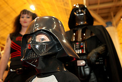 29 Jan 2012. New Orleans, Louisiana USA. <br /> Wizard World New Orleans Comic Con at the Ernest N Morial Convention Center. <br /> Ben Varley (5 yrs) at the show with various characters.<br /> Photo; Charlie Varley/varleypix.com