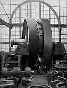 Fifty Ton Helical Gear Wheel Under Construction, Vicker's Armstrong Steel Foundry, England, 1928