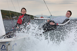 Susan Swarbuck goes sailing at Cumbrae National Watersports centre with GBR Olympic Development Squad Sailor David Kohler