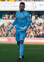 Football - 2016 / 2017 FA Cup - Fifth Round: Millwall vs. Leicester City <br /> <br /> Jordan Archer of Millwall at The Den<br /> <br /> COLORSPORT/DANIEL BEARHAM
