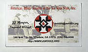 J.J. Harper,the self proclaimed Imperial Wizard of the American White Knights inc. rhanded out a few business card to the media since his arrival in Neshoba County..(Pictured is his business card he handed out to a few select reporters.(Photo/Suzi Altman/BloombergNews)