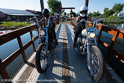 Kissa Von Adams and Savannah Rose at the Sportster Showdown Bike Show presented by Led Sled and Biltwell at the Buffalo Chip during the 78th annual Sturgis Motorcycle Rally. Sturgis, SD. USA. Tuesday August 7, 2018. Photography ©2018 Michael Lichter.