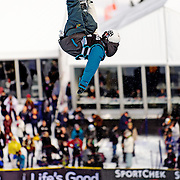Canadian National Snowboard Team member Derek Livingston puts in a solid run in the half pipe during qualification for the 2009 LG Snowboard FIS World Cup at Cypress Mountain, British Columbia, on February 16th, 2009. Livingston finished 27th in the field of 62.