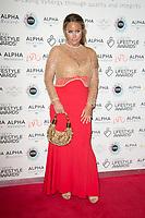 Danielle Mason on the red carpet for the Lifestyle Awards 2021, at the Landmark Hotel Marylebone, London.
