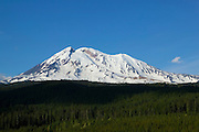 The west face of Mount Adams rises far above the Gifford Pinchot National Forest in Washington state. Adams, at 12276 ft, (3742 m), is the second-tallest mountain in Washington.