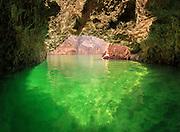 Emerald Cave on the Colorado River, landscape orientation