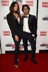 May 1, 2019 - Pasadena, CA, USA - LOS ANGELES - MAY 1:  Neha Kapur, Kunal Nayyar at the ''The Big Bang Theory'' Series Finale Party at the Langham Huntington Hotel on May 1, 2019 in Pasadena, CA (Credit Image: © Kay Blake/ZUMA Wire)