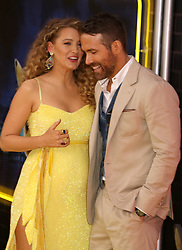 May 2, 2019 - New York City, New York, U.S. - Actors BLAKE LIVELY and RYAN REYNOLDS attend the US premiere of Pokemon Detective Pikachu held at Military Island Times Square. (Credit Image: © Nancy Kaszerman/ZUMA Wire)
