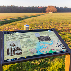 A roadside exhibit honors Harriet Tubman in Cambridge, Maryland.