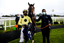 Mark Of Gold ridden by Sean Levey trained by Richard Hannon wins the Download The At The Races App Handicap - Mandatory by-line: Robbie Stephenson/JMP - 19/08/2020 - HORSE RACING - Bath Racecourse - Bath, England - Bath Races