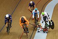 UEC European Championships Glasgow 2018 - Track 6th Day - Men Keirin - 07/08/2018 - Norbert Szabo (Romania) - Joachim Eilers (Germany) - Sandor Szalontay (Hungary) - Sergii Omelchenko (Azerbaijan) - Sam Ligtlee (Netherlands) - Sebastien Vigier (France) - photo Luca Bettini/BettiniPhoto©2018