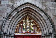 Ornate door of Saint Mark's Church, Locust Street, Philadelphia, Pennsylvania, USA