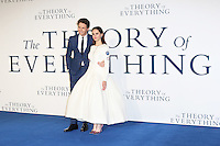 Eddie Redmayne, Felicity Jones, The Theory of Everything - UK film premiere, Leicester Square, London UK, 09 December 2014, Photo by Richard Goldschmidt