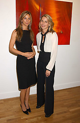 Left to right, GEORGIE LEATHAM and SERENA MORTON at an exhibition of art by Jeffrey Kroll entitled Imirage held at the Arndean Gallery, Cork Street, London on 19th October 2005.<br /><br />NON EXCLUSIVE - WORLD RIGHTS