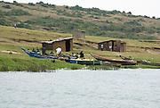 Uganda, Kazinga Channel connects Lake Edward to Lake George Local fishermen