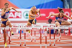 03-03-2017  SRB: European Athletics Championships indoor day 1, Belgrade<br /> In een lege Kombank Arena wordt de eerste dag van het Europees Kampioenschap gehouden / Sharona Bakker